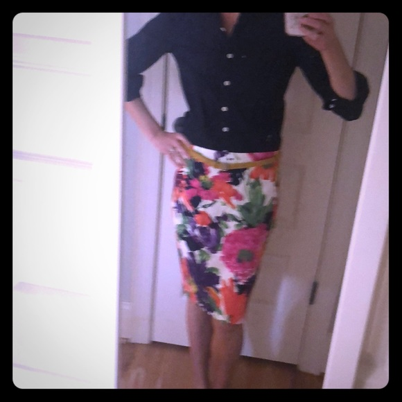 J. Crew Dresses & Skirts - Floral print skirt